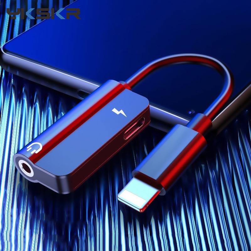 Аудио-адаптер для apple 3,5 мм зарядки для iphone 6 6S X 8 7 Plus XS MAX XR оригинальные науники разветвитель AUX разъем