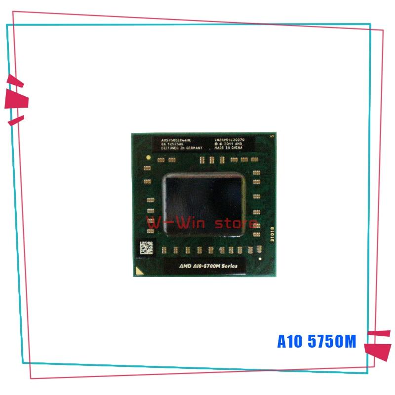 AMD A10-Series A10 5750M 2,5 ГГц четырехъядерный четырехпоточный процессор AM5750DEC44HL разъем FS1