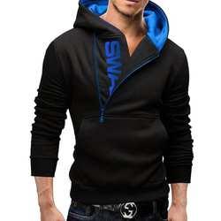 2019 Новое поступление, Осенний модный мужской повседневный тонкий свитер с буквенным принтом на боковой молнии, кашемировый свитер, мужская
