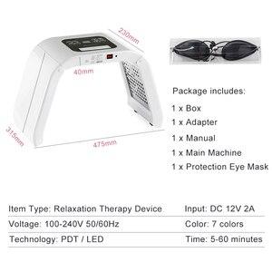 Image 5 - 7 צבעים PDF Led אור פנים טיפול מסכת יופי הלבנת עור אקנה Remover נגד קמטים פוטותרפיה ספקטרומטר טיפוח עור