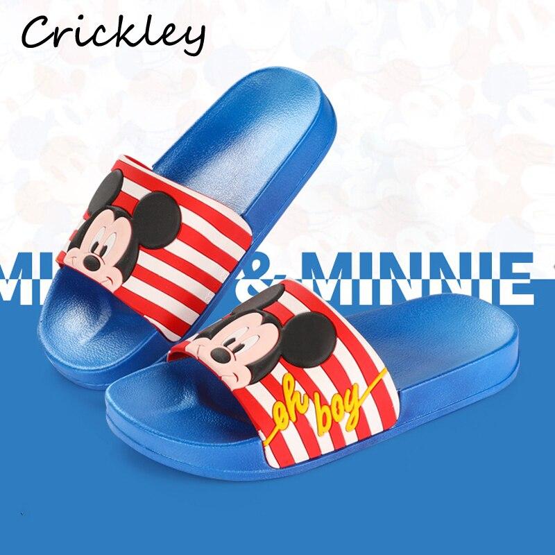 Children Slippers Cartoon Mickey Minnie Pattern Beach Shoes For Kids Boys Girls Summer Indoor Non Slip Soft High Quality Slipper