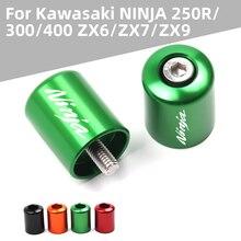 Voor Kawasaki Ninja 250R 300 ER6 650 ZX6 ZX7 ZX9 ZX10 ZX12 ZX14 Motorfiets Accessoires Cnc Stuur Grips End Bar cap End Plug