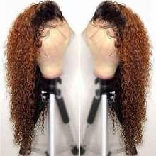 13x6 Ombre Wasser Welle Spitze Vorne Perücke 360 Spitze Frontal Perücke Schwarz Frauen Remy 1B 30 Farbige Spitze front Menschliches Haar Perücken PrePlucked
