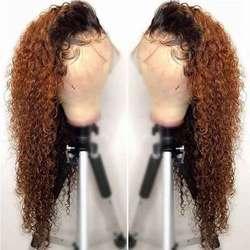 13x6 Ombre wody fala koronki przodu peruka 360 czołowa koronki peruka czarnych kobiet Remy 1B 30 kolorowe koronki przodu włosów ludzkich peruk pre oskubane