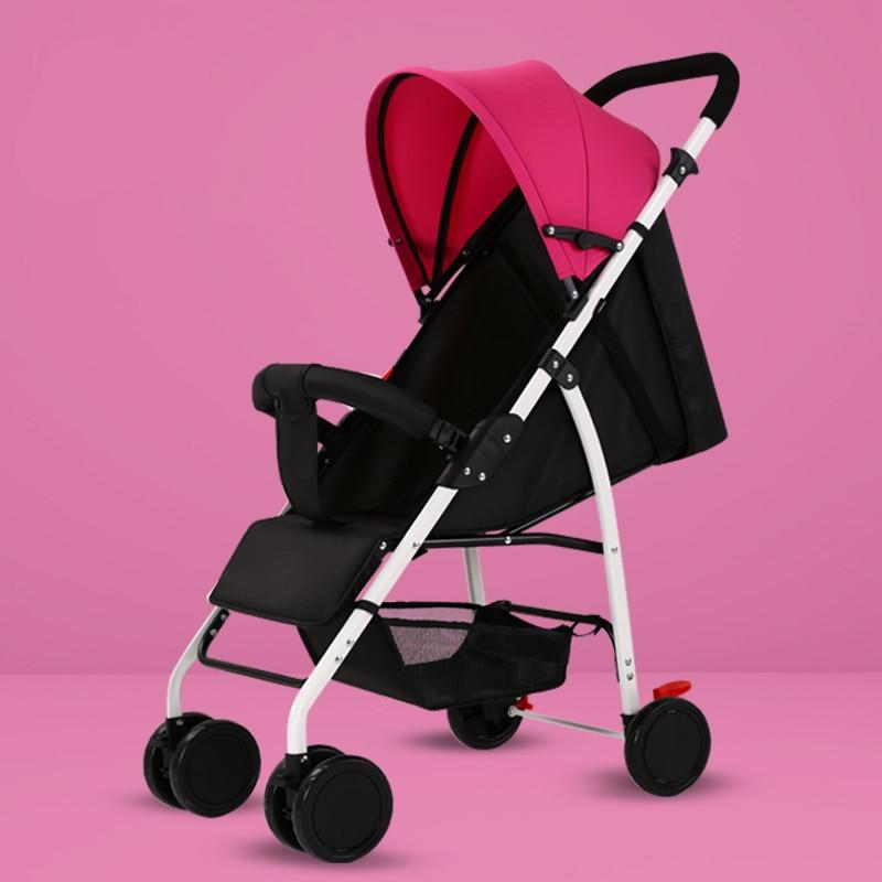 Baby Stroller Ultra Light Portable Can Sit Reclining Baby Umbrella Folding Shock Absorber Children Trolley