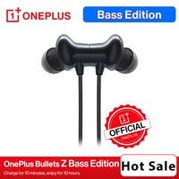 OnePlus-auriculares inalámbricos Bullets Z, cascos con Bluetooth 5,0, edición de bajos, carga de 10 minutos para disfrutar por 10 horas, IP55, hasta 20/17 horas