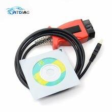 Cabo diagnóstico jlr do cabo para v-olv V-IDA para t-oyo-ta tis techstream 3 em 1 reprogramação do varredor do carro
