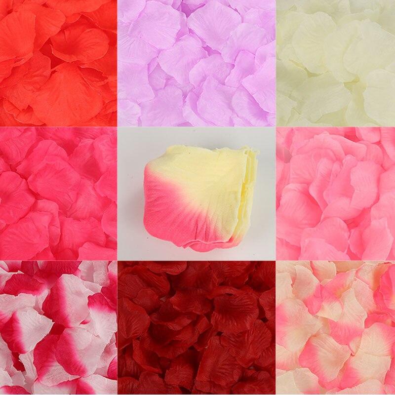 500Pcs/bag Silk Rose Petals for Wedding Decoration Romantic Artificial Rose Flowers Wedding Accessories