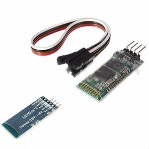 СИНИЙ 4-контактный HC-06 RS232 Беспроводной Bluetooth ВЧ 5V модуль приемопередатчика + кабель для Arduino