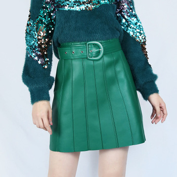 2020 Women Spring Genuine Real Sheep Leather Skirt E52 2020 women spring genuine real sheep leather pants e54