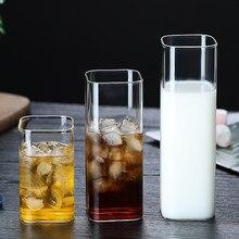 Tasse en verre mur en verre résistant à la chaleur tasses à café/thé et tasses à bière cola tasse à lait tasses à café tasses carrées verres à boire