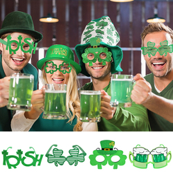 5Designs St. Patrick'S Day Lucky Clover Glasses Irish Festival Party Decorative Supplies Kids Toy Holiday Party Props