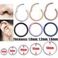 Навесной перегородки Кликер сегмент нос кольцо для губ, можно носить в ушах, Спиральные серьги, бижутерия для пирсинга, стальное кольцо для ...