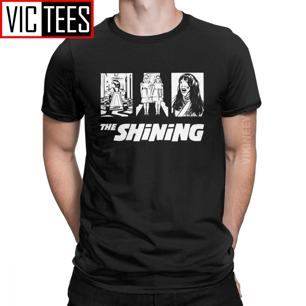 The Shining <font><b>Kubrick</b></font> Men's Tshirt Redrum Horror Scary Vintage Homme T-Shirt Cotton Oversized Streetwear image