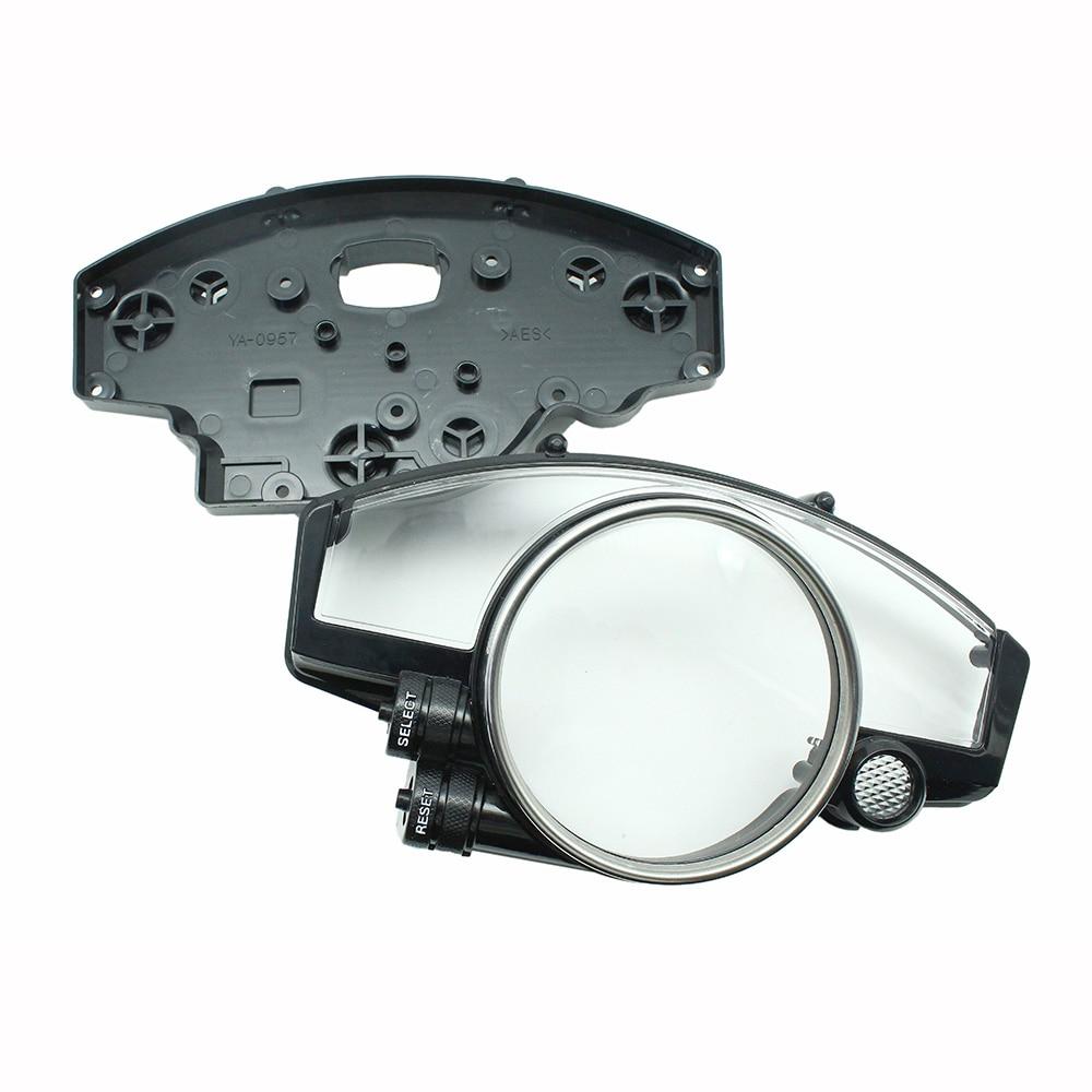 Abs plástico velocímetro caso calibre tacômetro capa apto para yamaha yzf r1 2004 2005 2006/yzf r6 2006 2007 2008 2009 2010-2014