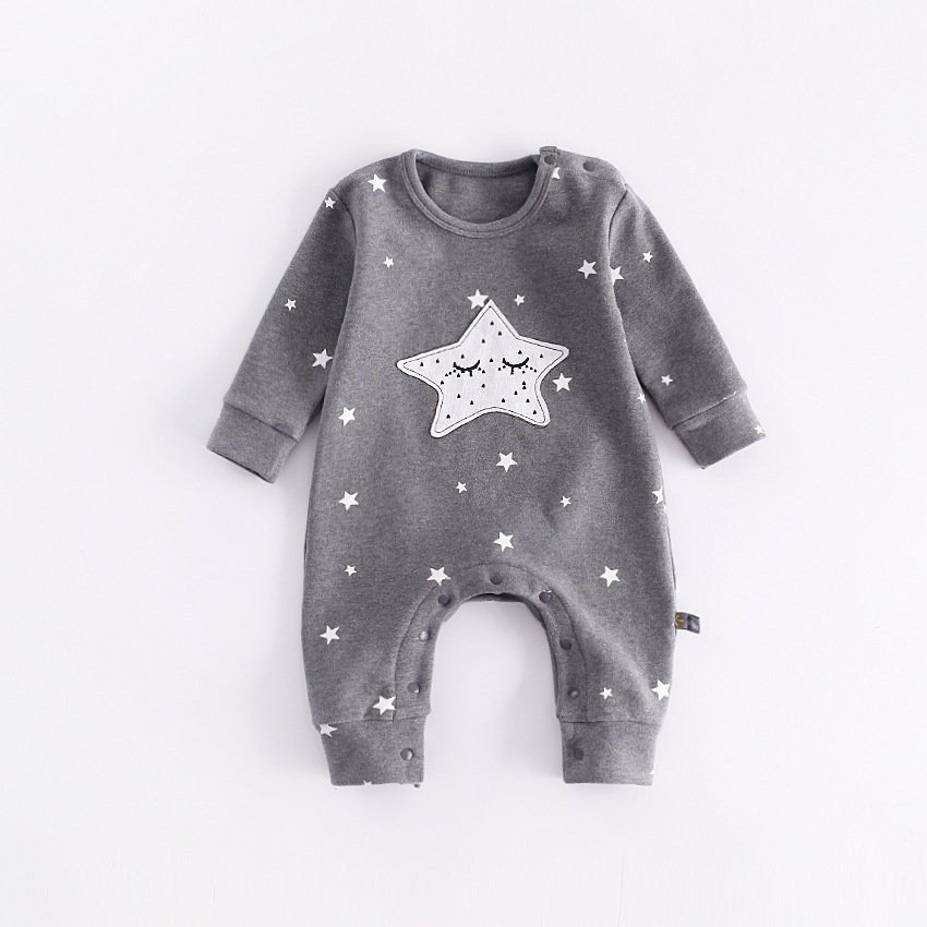 Newest Newborn Baby Boy Girl Romper Infant Star Printed Jumpsuits Long Sleeve Fashion Conjunto Menino Costume Baby Clothing