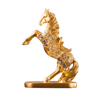1pc Horse Crafts Lovely Lifelike Delicate Creative Figurines Decor Horse Sculpture Resin Ornament For Shop Home Office