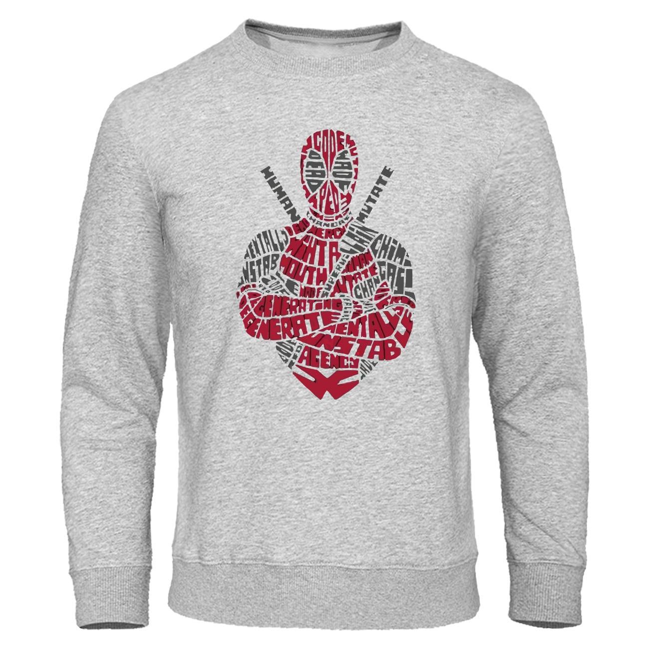 Funny Deadpool Hoodie Autumn Winter Hoodies Superhero Men Hooded Sweatshirts Male Fleece Warm Mens Pullover Casual Brand Hoody