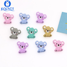 kovict 10pcs Koala Silicone Beads Rodents Baby Teether Food Grade Silicone Pearl