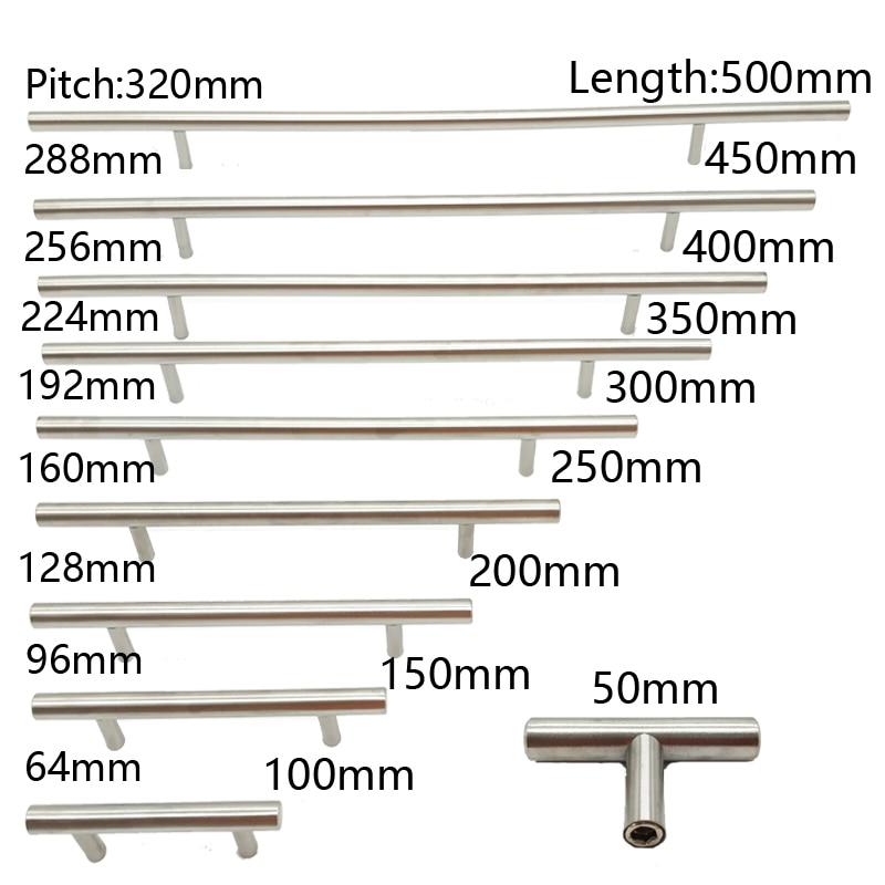 Ручка из нержавеющей стали для шкафа, 50-450 мм