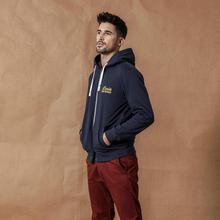 SIMWOOD 2020 봄 새로운 지퍼 업 후드 남성 후드 자수 스웨터 고품질의 브랜드 의류 SI980506