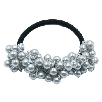 14 Colors Woman Elegant Pearl Hair Ties Beads Girls Scrunchies Rubber Bands Ponytail Holders Hair Accessories Elastic Hair Band 37