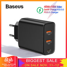Baseus 60W PD 3.0 Fast USB Charger For iPhone 11 Pro Xs Max Xr Phone Charger with Quick Charge 4.0 3.0 FCP SCP For Xiaomi Huawei(China)