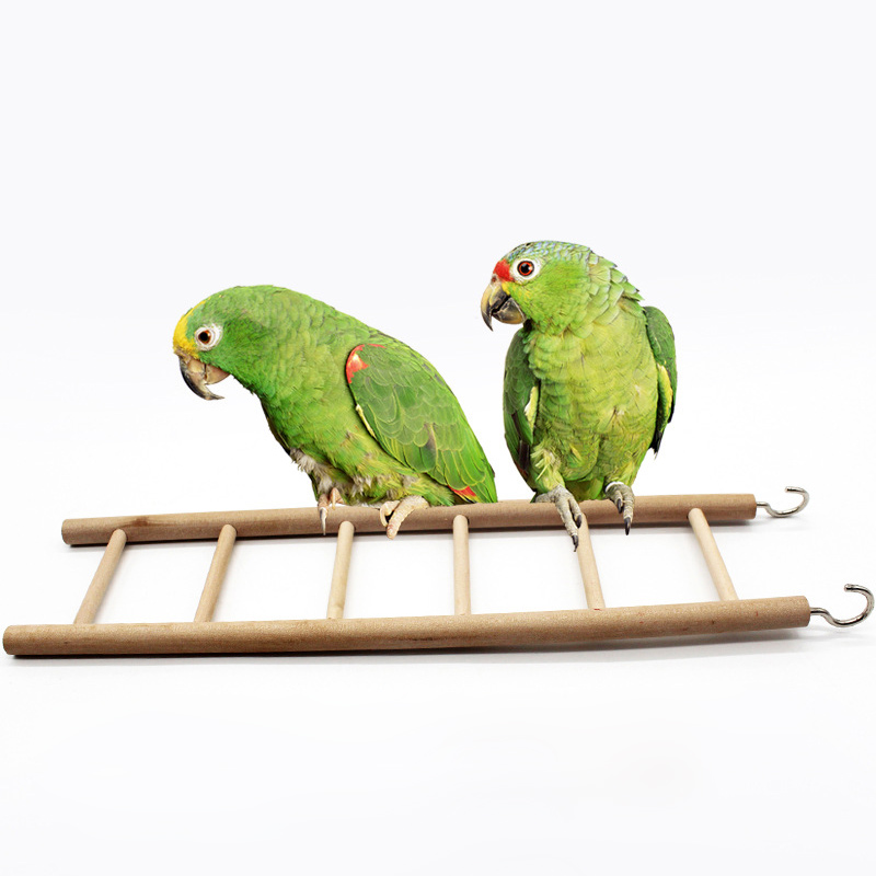 Parrot Toy Pet Supplies Bird Cage 1Pcs Climbing Stairs Rocking Scratcher Perch 6 Ladders Hamsters Products Wooden Ladder