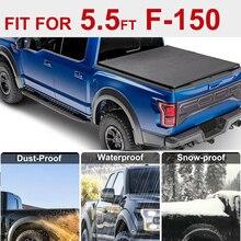 Funda blanda para camión de tres pliegues Tonneau para Ford F 150 09 14 5.5ft 66 pulgadas cama corta
