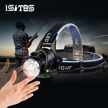 LED Headlamp Sensor Headlight T6/L2 Outdoors Waterproof Zoomable USB Rechargeable 18650 Battery Flashlights Hiking Camping Light 1