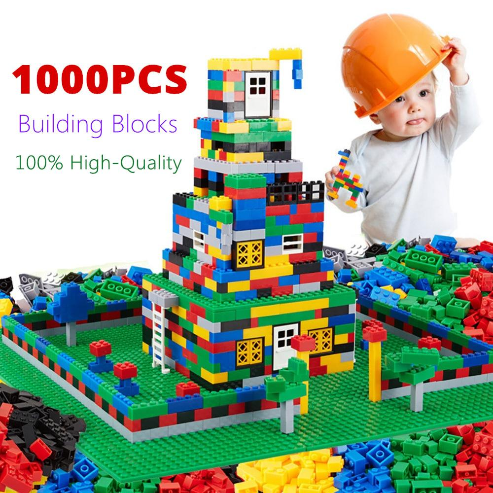 Original Quality <font><b>1000Pcs</b></font> Building Blocks Compatible with Classic DIY Bricks Door & Window Blocks Toys for Children brinquedos image