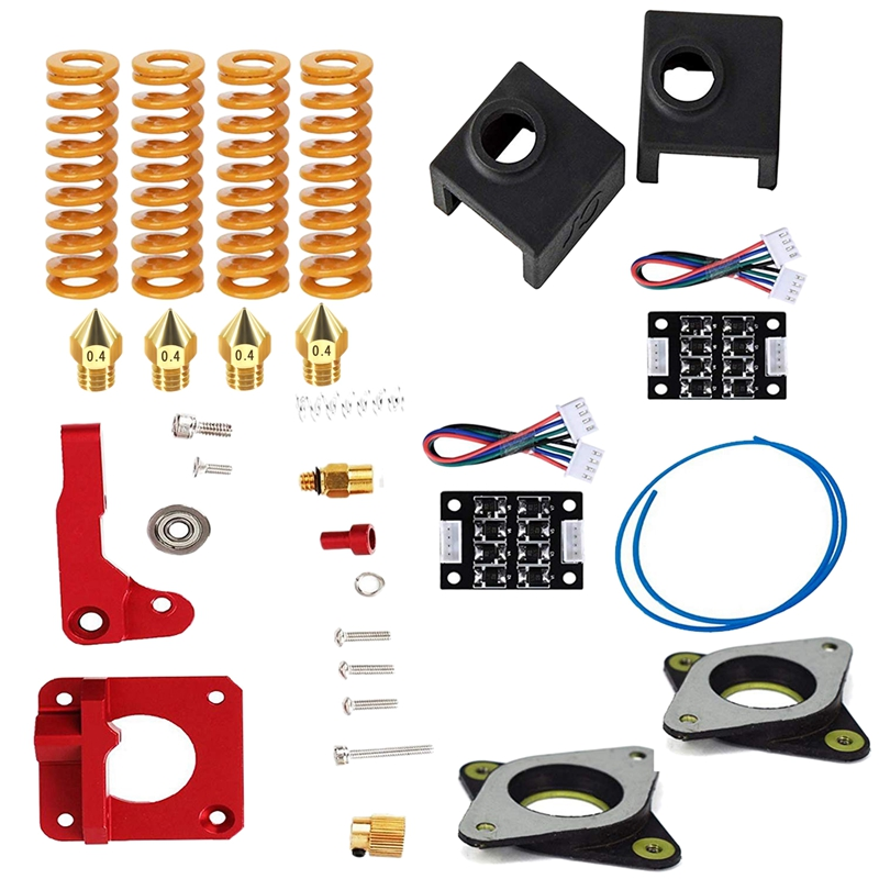 3D Printing Accessories Springs Extruder Sock Tube Stepper Dampers Smoother Kit Fit For Creality Ender 3 3D Printer