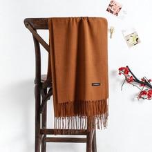 Однотонные мягкие женские кашемировый шарф шарфы женские летние шали обертывание Осень Зима пашмины унисекс женский хиджаб повязка на голову