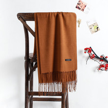 2019 solid color soft women scarf cashmere scarves ladies su