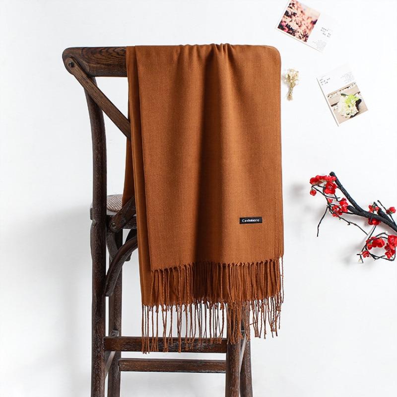 2019 solid color soft women scarf cashmere scarves ladies summer shawl wrap autumn winter pashmina Unisex female hijab headband(China)