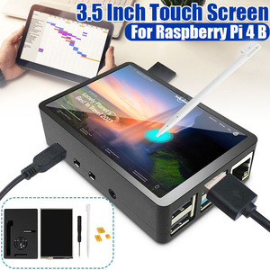 1 Set 3.5inch TFT LCD Touchscreen + ABS Case + Touch Pen + Screwdriver LCD Display HDMI Input Monitor for Raspberry Pi 4 B