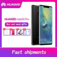 HUAWEI Mate 20 Pro Telefono Cellulare a Schermo Intero Impermeabile IP68 40MP 4 Telecamere Kirin980 caricatore Rapido 10 V/4A octa core FACE ID