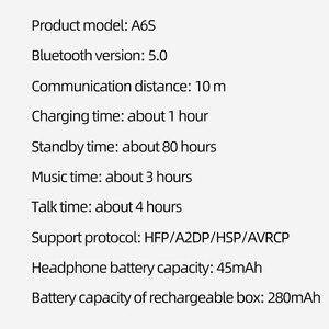 Image 5 - A6S TWS Drahtlose Kopfhörer PK Airdots Stereo Bluetooth Kopfhörer BT 5,0 Wasserdichte Sport Headsets Noise Cancelling Mic Für Redmi