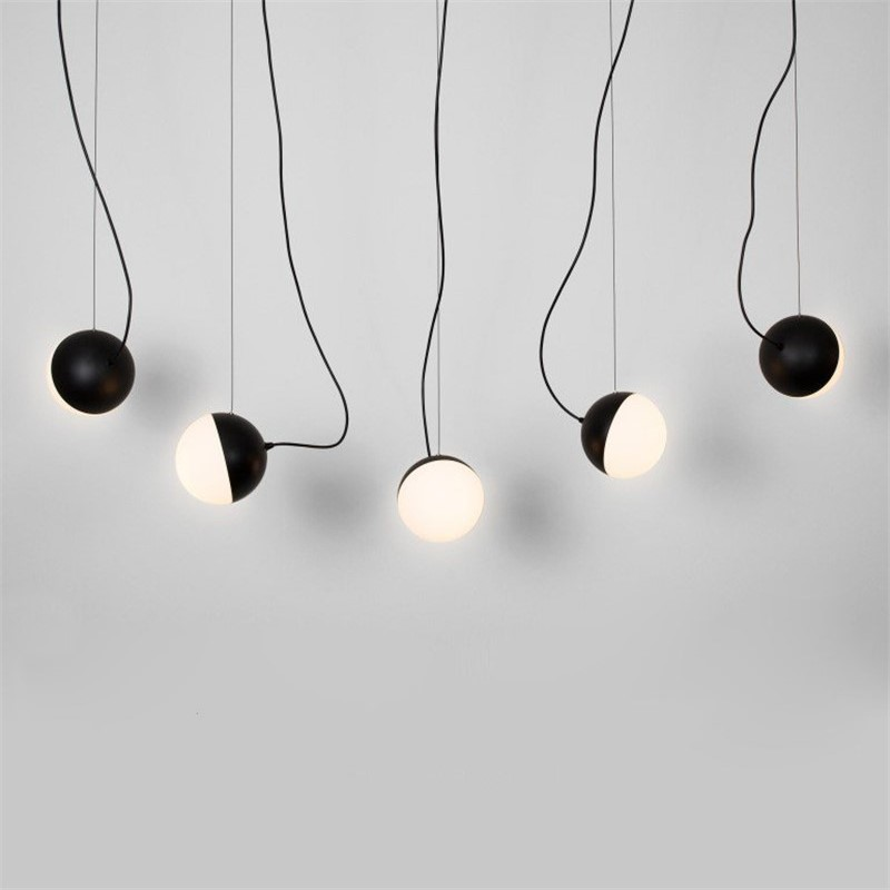 Nordic Magic Bean Glass Ball Pendant Lights Bedroom Bedside Lamps Modern Simple Restaurant Dining Room Kitchen Hanging Lamps