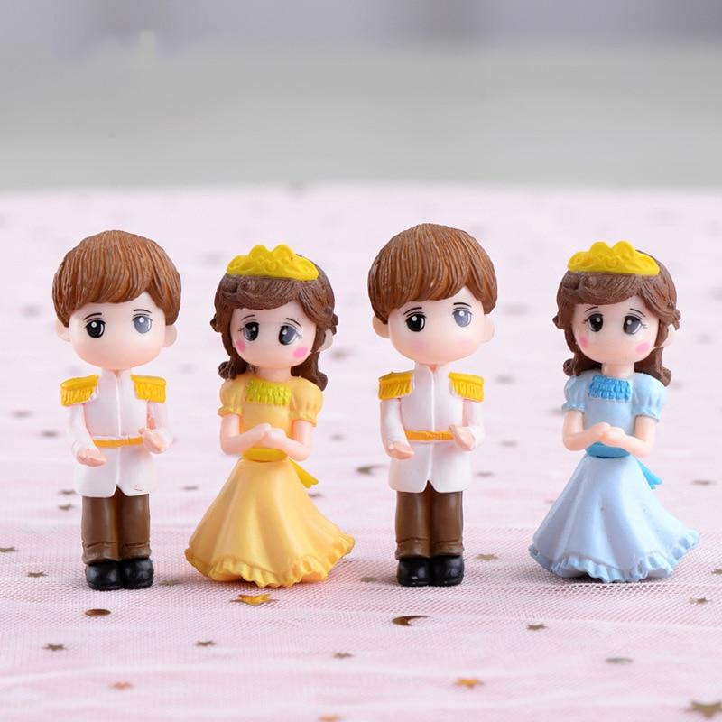 Prince Princess Doll Mini Figures Lovers Miniatures Garden Fairy Figurine Decoration Resin Ornaments Home Decor Christmas Gift