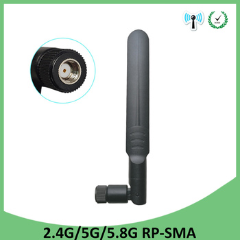 5pcs 2.4GHz 5GHz 5.8Ghz Antenna 5dBi RP-SMA Connector Dual Band wifi Antena aerial SMA female wireless router 2.4 ghz 5.8