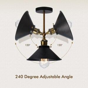 Image 3 - Nowoczesne Vintage Loft metalowe podwójne głowice kinkiet Retro mosiądz kinkiet styl ludowy E27 Edison kinkiet lampa oprawy 110V/220V