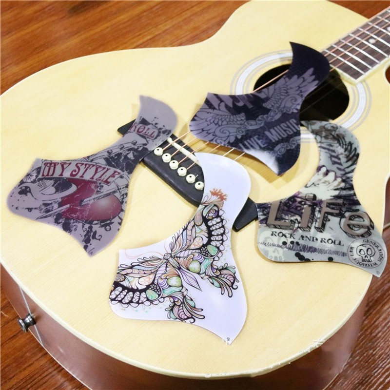 1 PC Professional Folk Acoustic Guitar Pickguard Top Quality Self-adhesive Pick Guard Sticker For Acoustic Guitar Accessories