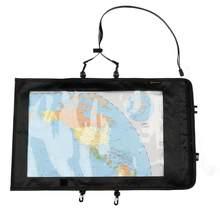 Kosibate mapa saco à prova dwaterproof água pvc caso mapa do mundo ao ar livre capa para viagens caminhadas com janela clara & cordão