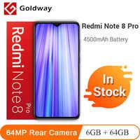 En Stock! Xiaomi Redmi Note 8 Pro 6GB 64GB 64MP Quad caméra arrière Smartphone MTK Helio G90T Octa Core 4500mAh batterie NFC
