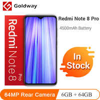 In Stock ! Xiaomi Redmi Note 8 Pro 6GB 64GB 64MP Quad Rear Camera Smartphone MTK Helio G90T Octa Core 4500mAh Battery NFC