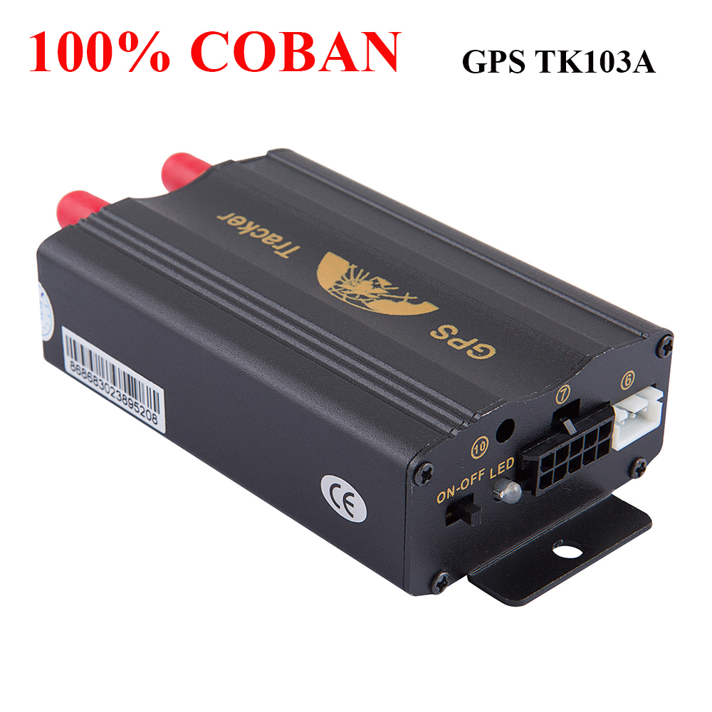 Coban Marca Gsm/gprs Rastreamento de Veículos Gps Car Tracker Tk103a Tk103 Gps103a Acc Porta Sensor de Choque Rastreador Em Tempo Real alarme