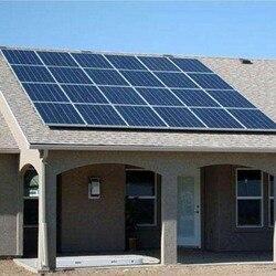 Sistema di energia solare A Casa Completo 3KW Sul Legame di Griglia del Pannello Solare 300w 30v Inverter Solare 3000W 3KW 220v Onda Sinusoidale Pura PV Cavo di Montaggio Rv