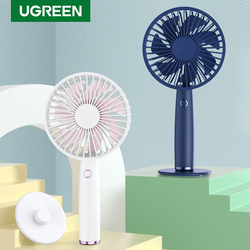 Ugreen Fan Cooling Electric Mini USB Portable Air Conditioner Fans 2500mAh Small Household Handheld Silent Desk Rechargeable Fan