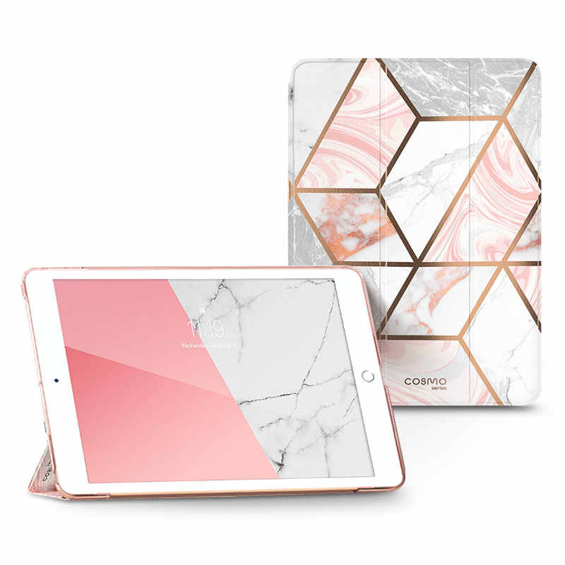 For iPad 10.2 Case (2019) i-Blason Cosmo Lite Slim Trifold Stand Smart Clear Hard Back Protective Cover with Auto Sleep/Wake